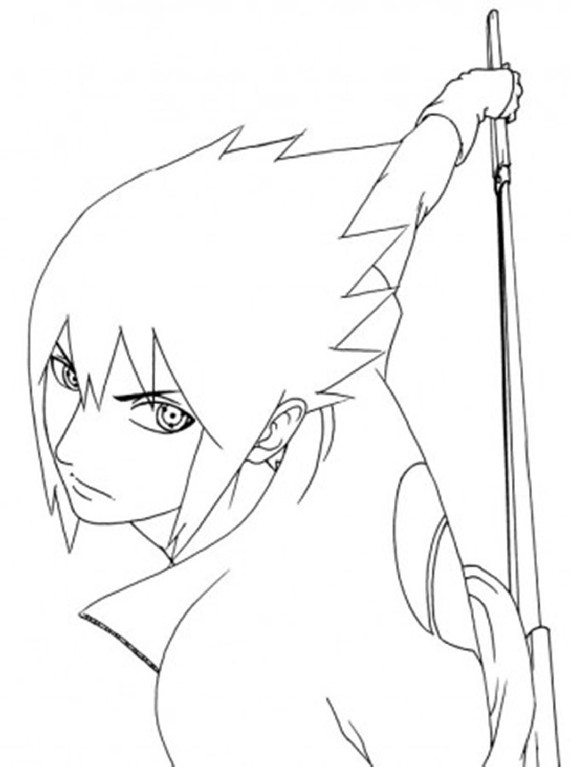 Naruto And Sasuke Coloring Pages - Bltidm