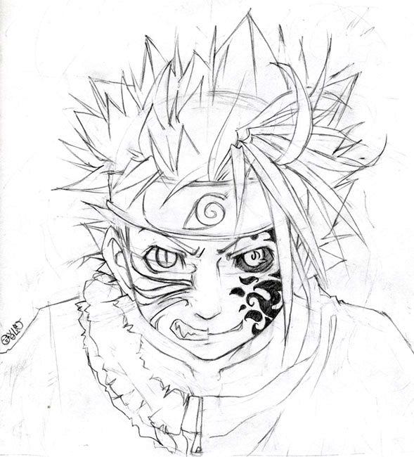 589x650 Half Naruto Half Sasuke By Ovolon