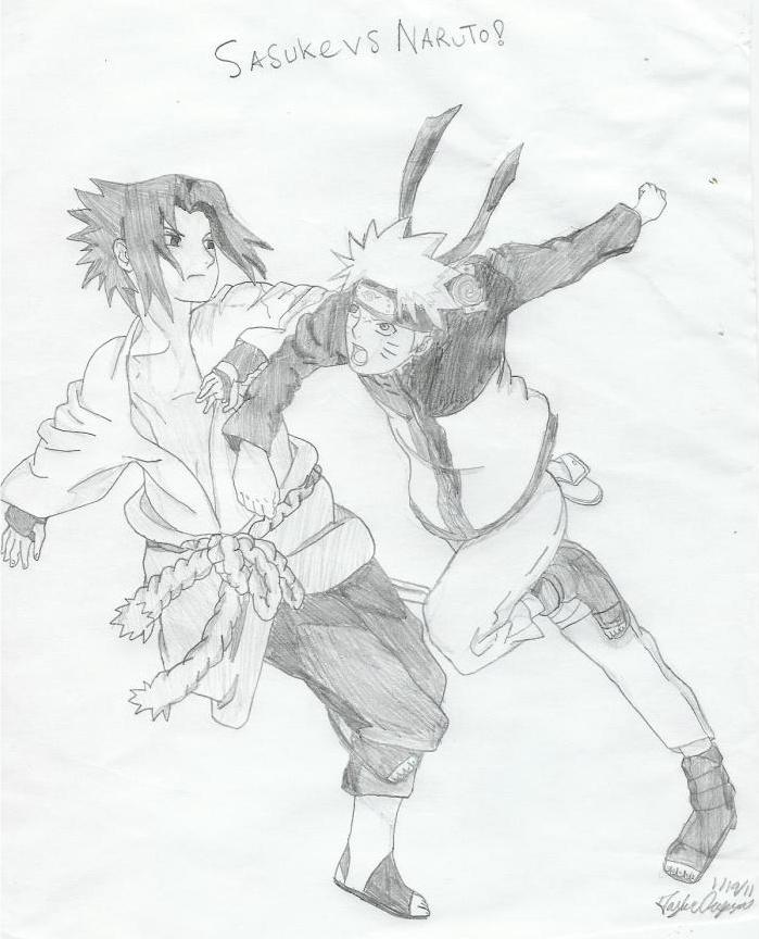 699x864 Sasuke Vs Naruto By Taylorhokamodo
