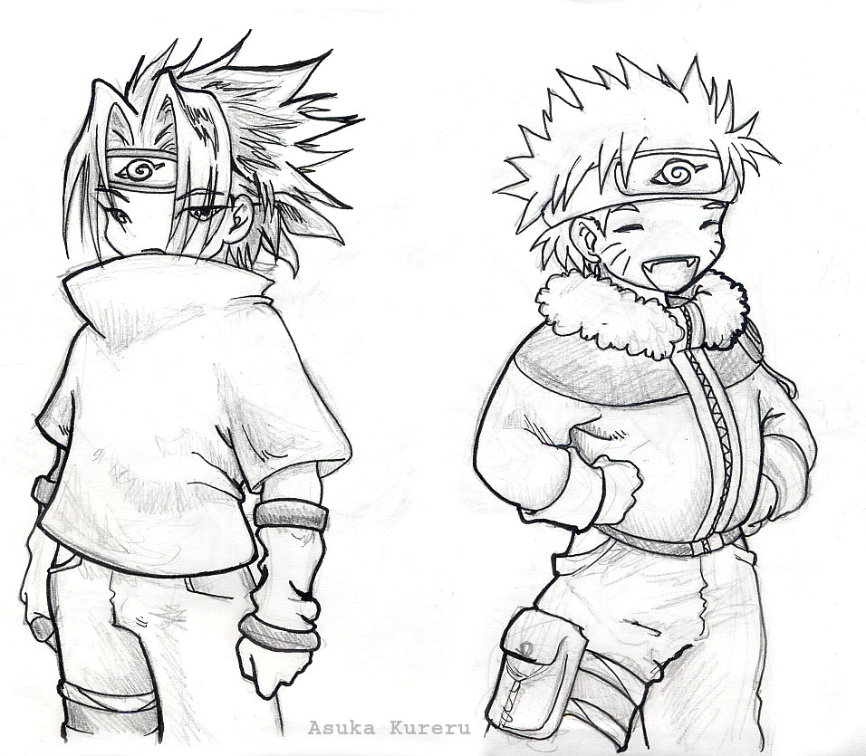 956x835 Chibi Sasuke And Naruto By Askerian
