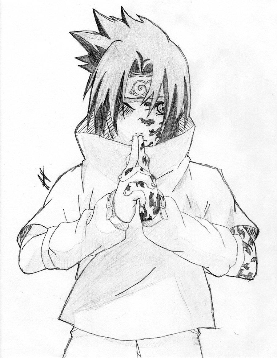 900x1161 How To Draw Sasuke Shippuden Step 7jpg, Naruto Vs Sasuke Coloring