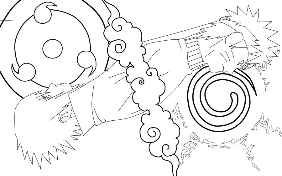 900x563 Naruto And Sasuke By Hisanna27
