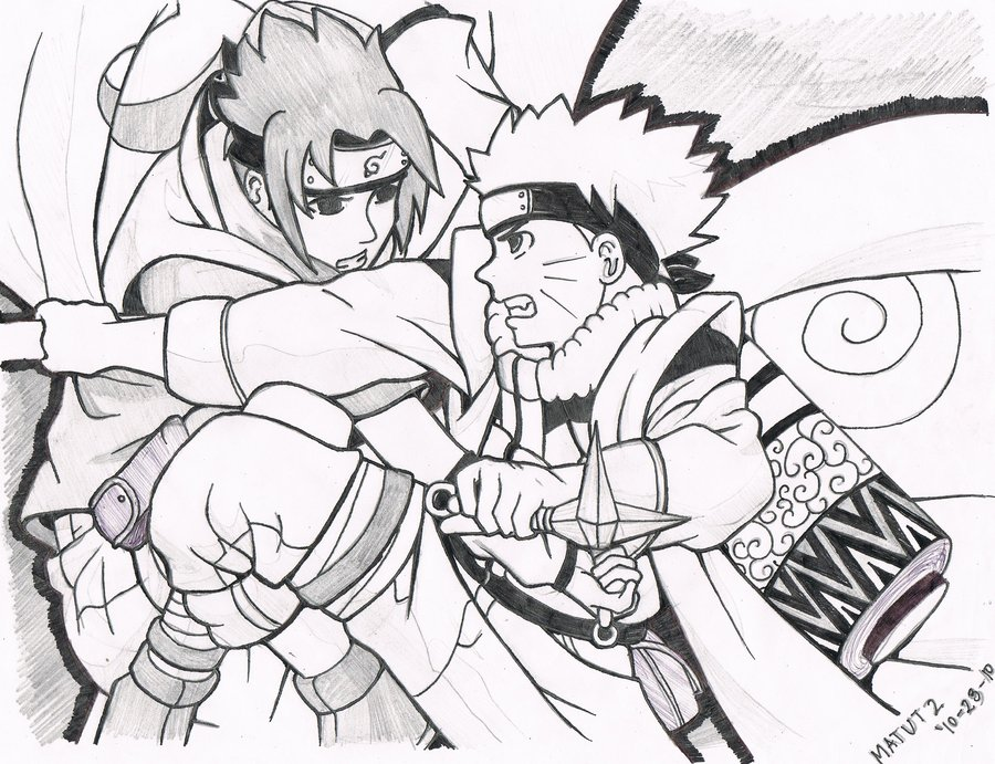 900x691 Naruto Vs Sasuke By Madokaedama