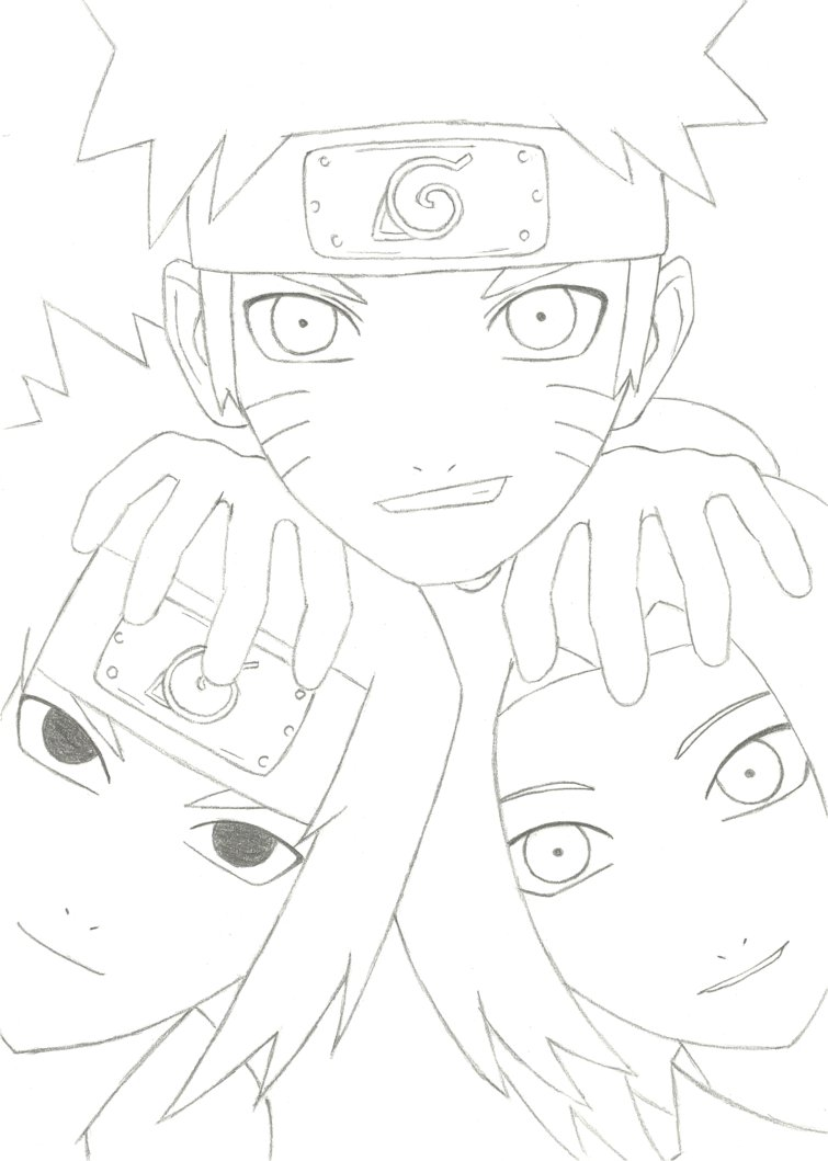755x1059 Naruto, Sasuke And Sakura By Jane 52