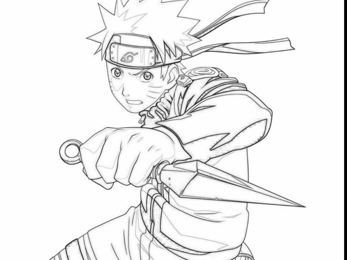 1199x900 Free Printable Naruto Coloring Pages For Toddler Shippuden