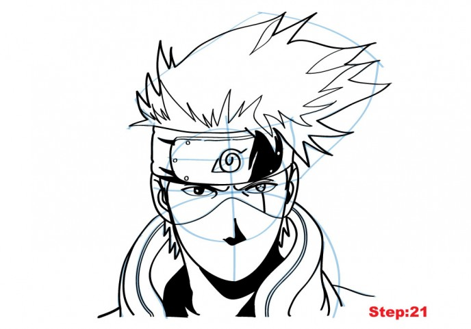 688x481 How To Draw Kakashi From Naruto Naruto Drawings