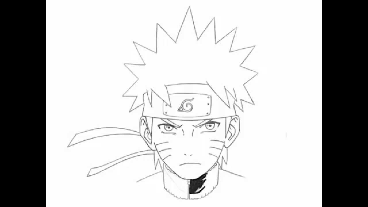 1280x720 How To Draw Naruto Uzumaki Step By Step