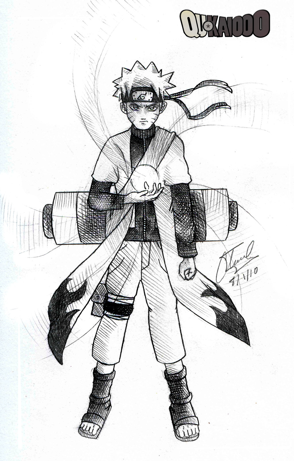 1024x1601 Naruto Sage Mode Pencil By Qukai415
