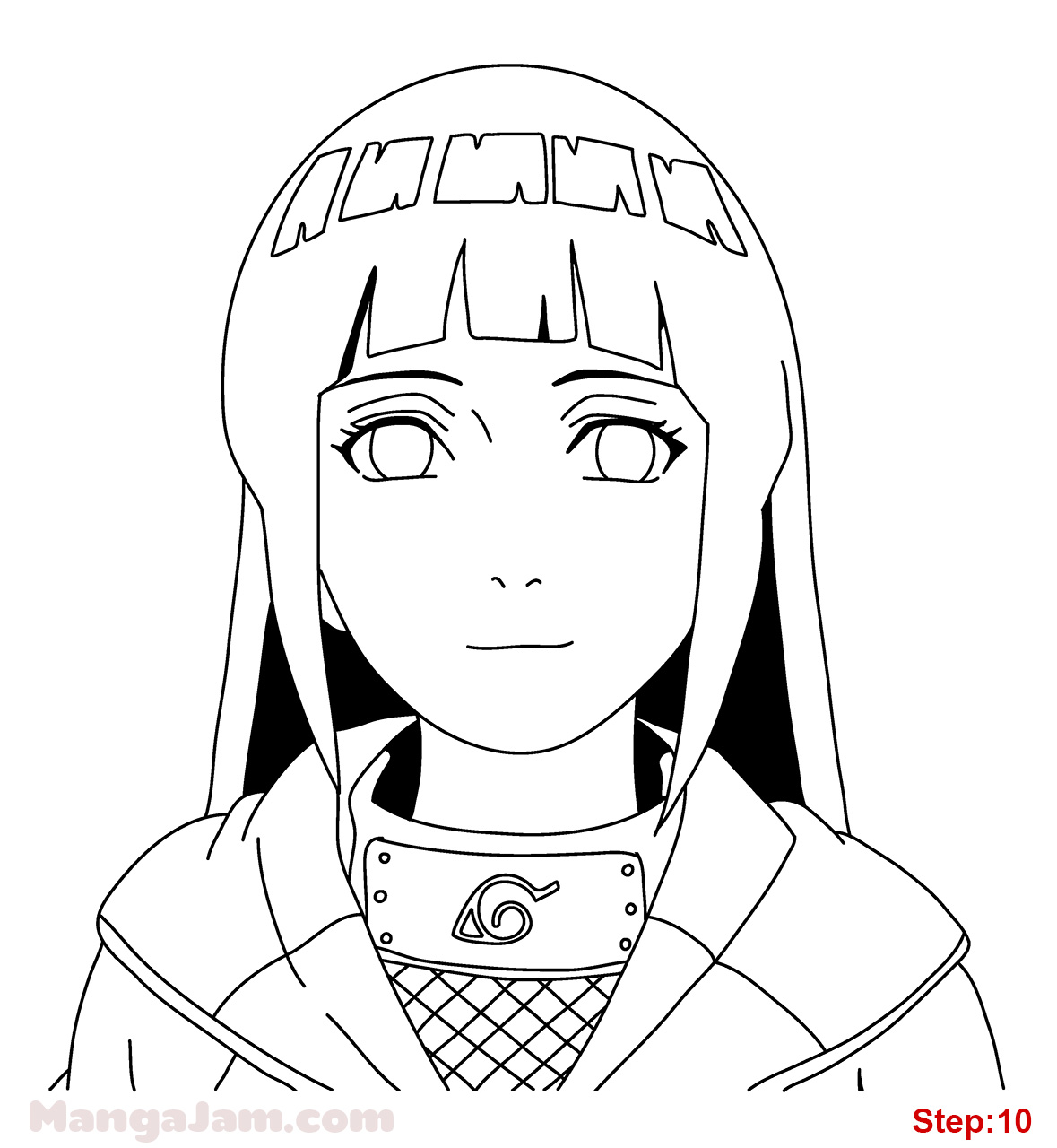 1179x1280 How to Draw Hinata from Naruto