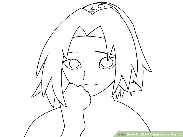 728x546 How to Draw Sakura from Naruto 12 Steps (with Pictures)