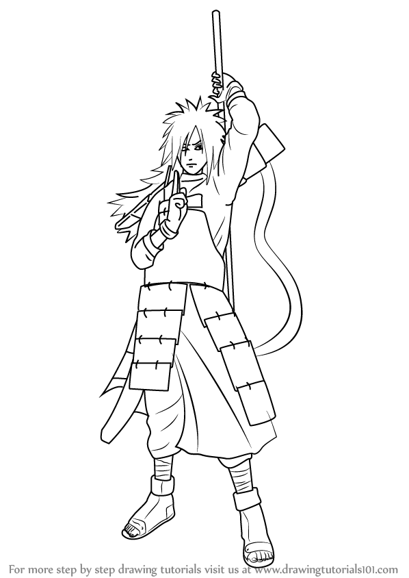 598x844 Learn How to Draw Madara Uchiha from Naruto (Naruto) Step by Step