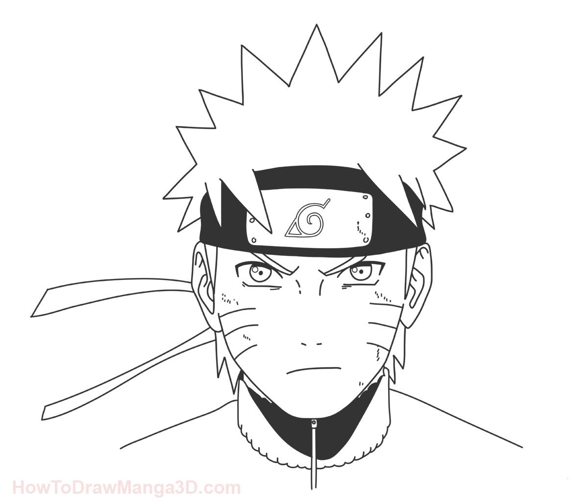 1194x1024 Let#39s learn how to draw Naruto Step by Step from Naruto today