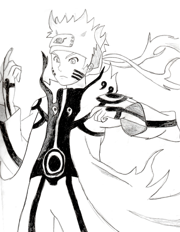 600x774 Naruto Kyuubi Form Sketch by Domo8U2 on DeviantArt