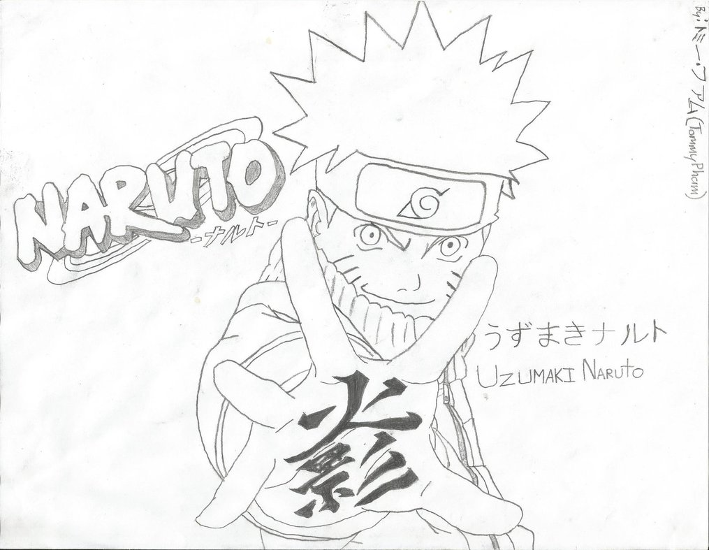 1015x787 Naruto Uzumaki Sketch by xXDragonZoneXx on DeviantArt