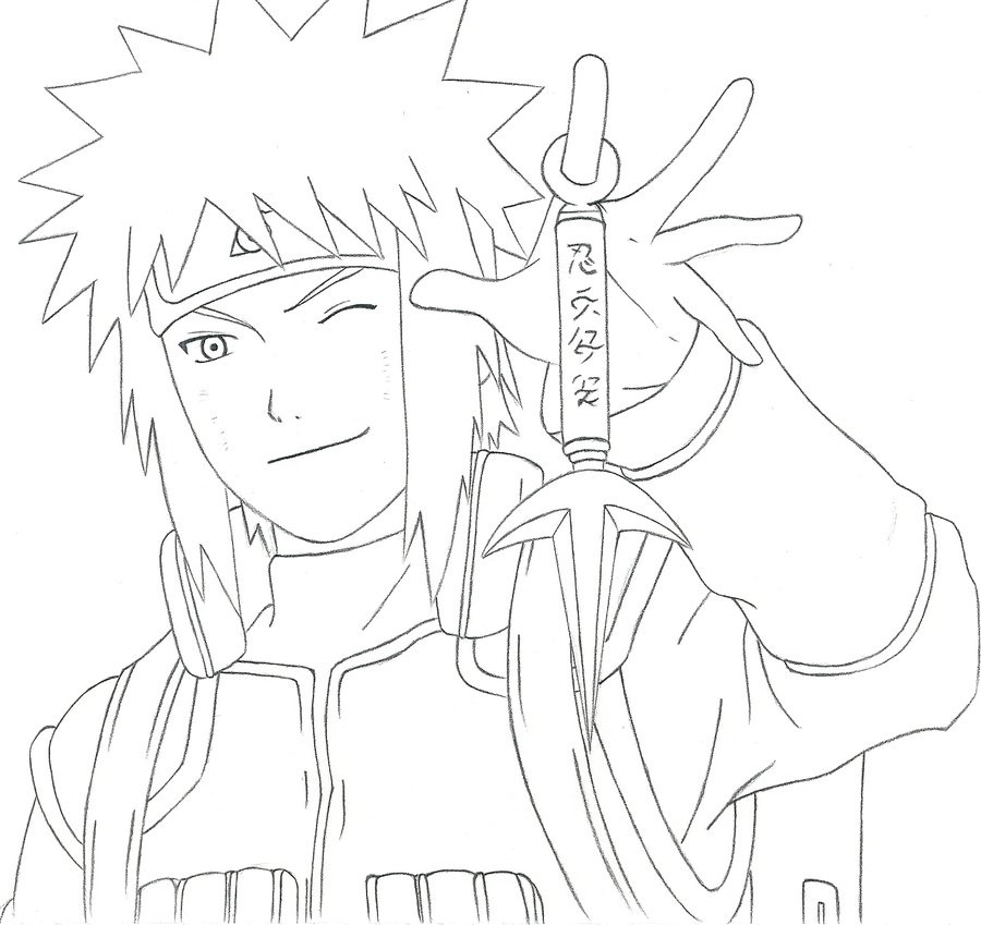 900x849 This is a drawing of Naruto#39s dad, Minato. by Fangthelonewolf98 on