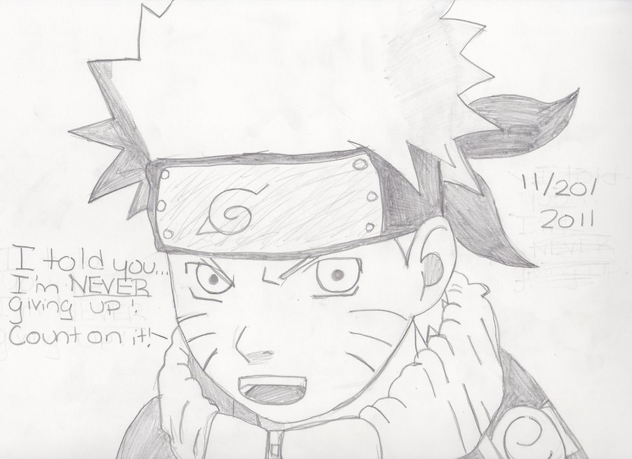 900x654 Uzumaki Naruto Pencil Drawing by IceColdVictory on DeviantArt