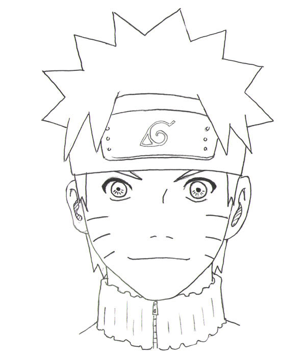 600x700 drawing naruto step by step completed Drawing anime Pinterest