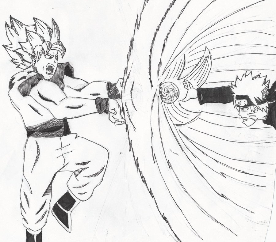 900x790 goku vs naruto by crowshot27 on DeviantArt