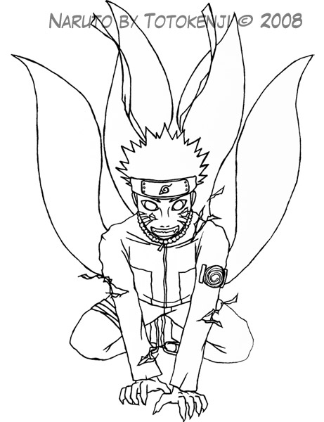461x600 Drawing of Naruto 4th Tail by totokenji on DeviantArt
