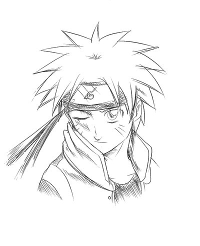 400x492 Early Naruto sketch by MasashiKishimoto on DeviantArt