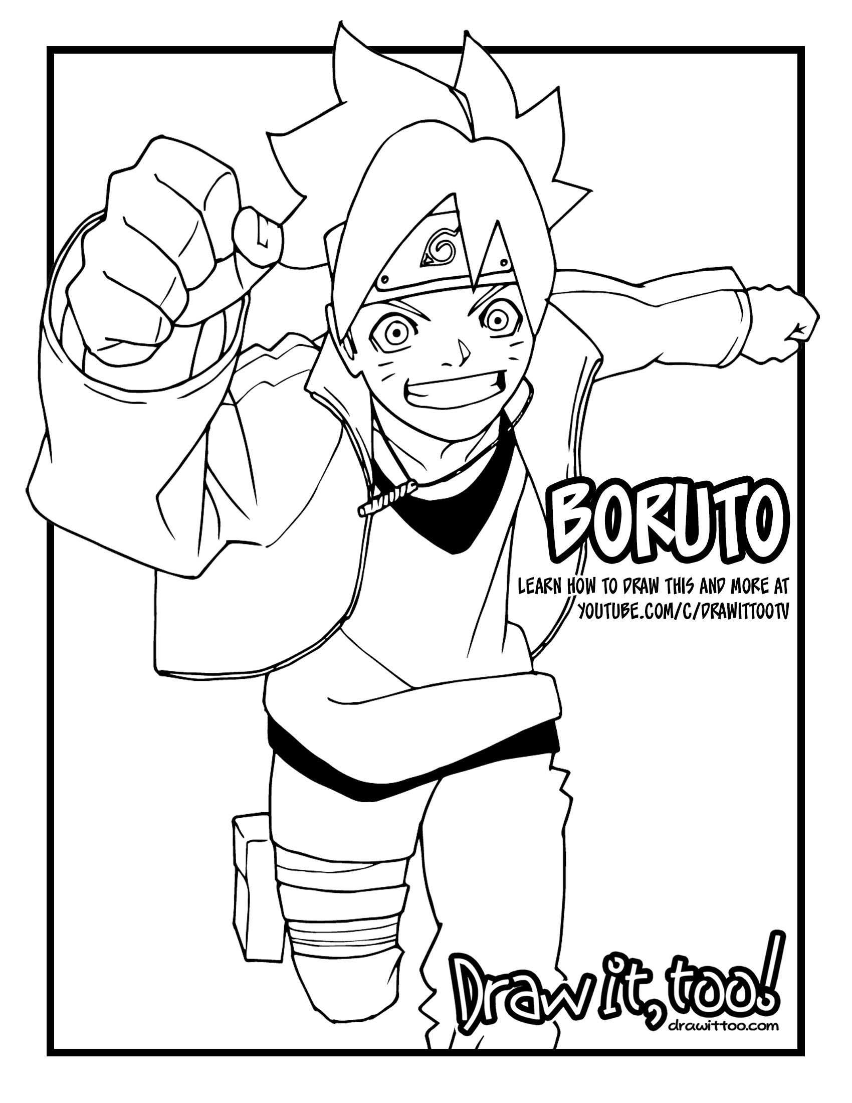 1700x2200 How to Draw BORUTO (Boruto Naruto Next Generations) Drawing