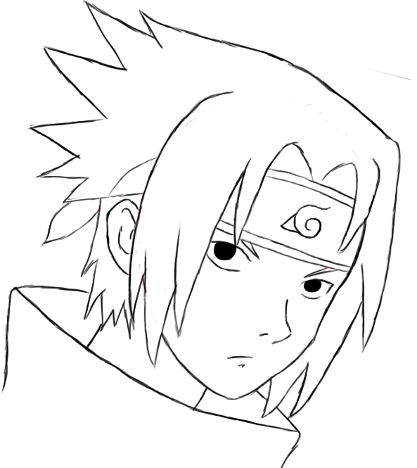 593x665 how to draw sasuke naruto series sasuke uchiha and sasuke