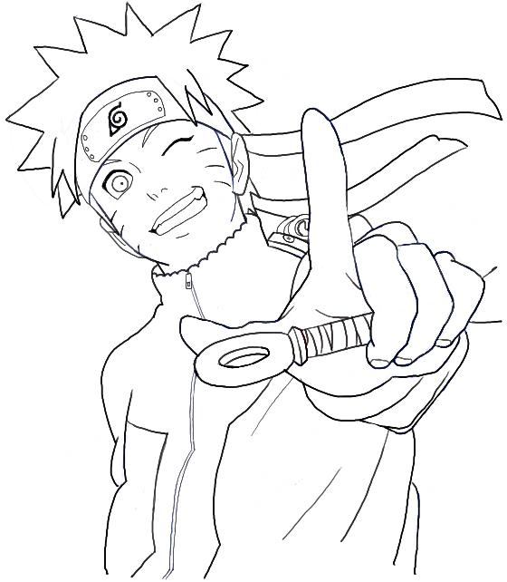 560x642 How To Draw Naruto Uzumaki Step By Step Drawing Tutorial