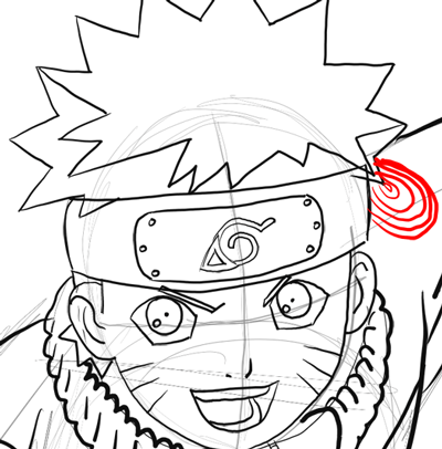400x406 How To Draw Naruto Uzumaki With Easy Step By Step Drawing