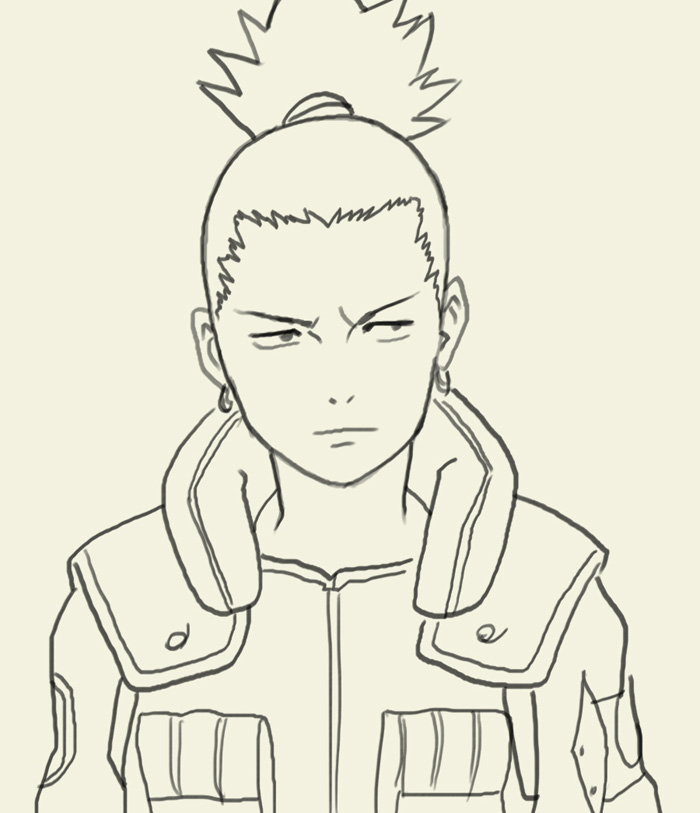 700x813 How To Draw Nara Shikamaru