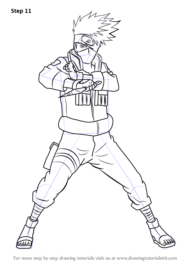 598x844 Learn How To Draw Kakashi Hatake From Naruto (Naruto) Step By Step