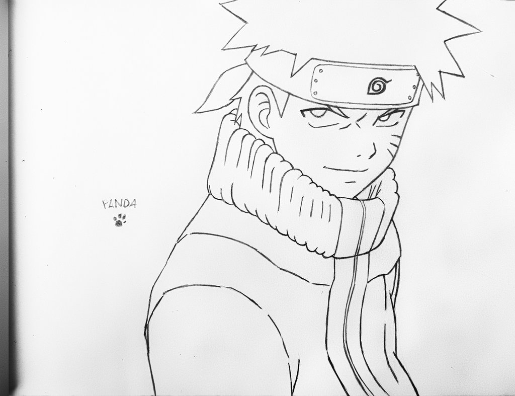 1024x787 Naruto Drawing In Pencil Naruto Pencil Lineart Agarest Of War