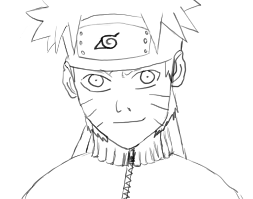 513x405 Naruto Sketch By T45h