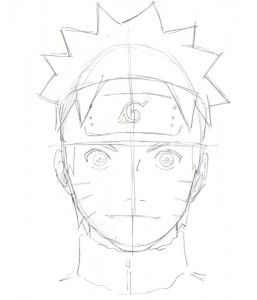 Naruto Face Drawing