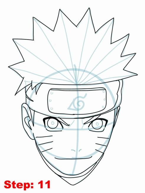 491x653 Drawing Naruto Tutorial Step 11 Naruto Shippuden Tutorial