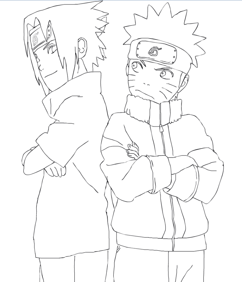 Naruto Outline Drawing
