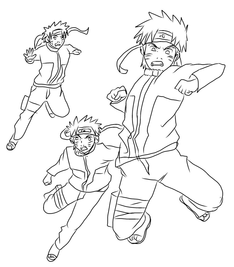 900x1029 Naruto Barrage Outline By Superjacqui