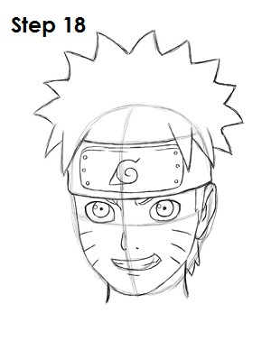 300x388 Anime In The Heart Blog How To Draw Naruto 20 Easy Steps