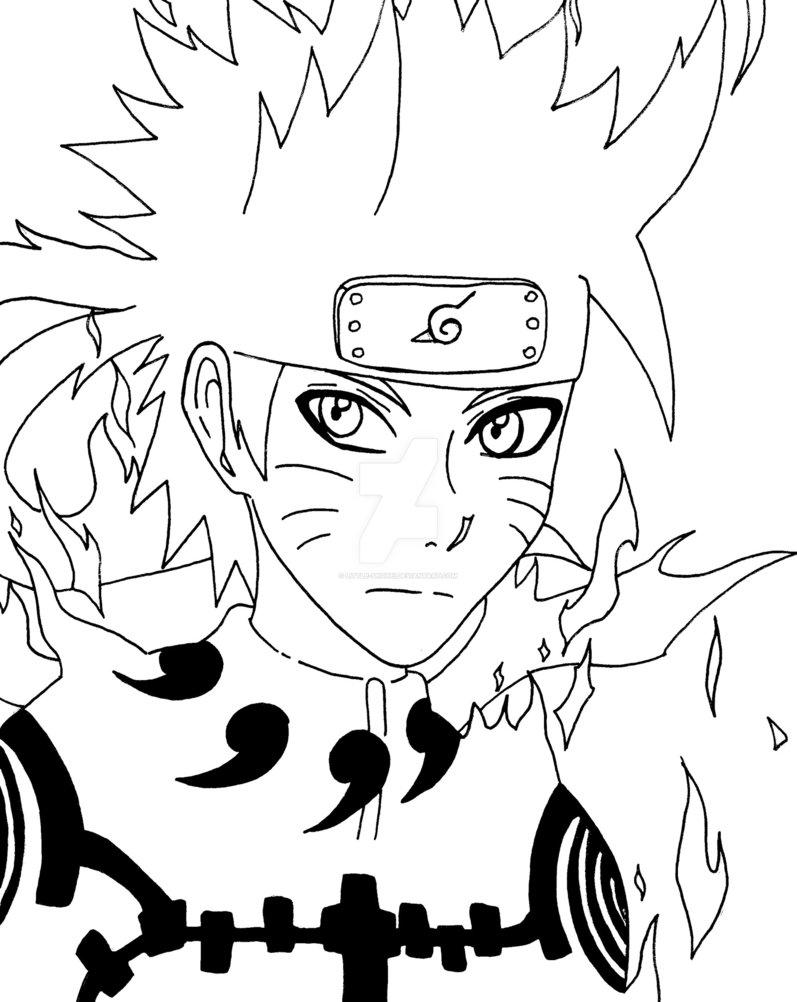 797x1002 Outlines Naruto Rikudo Kyuubi Mode By Little Shohei