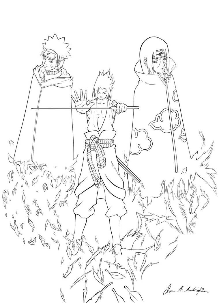 Naruto Outline Drawing at GetDrawings.com | Free for personal use ...
