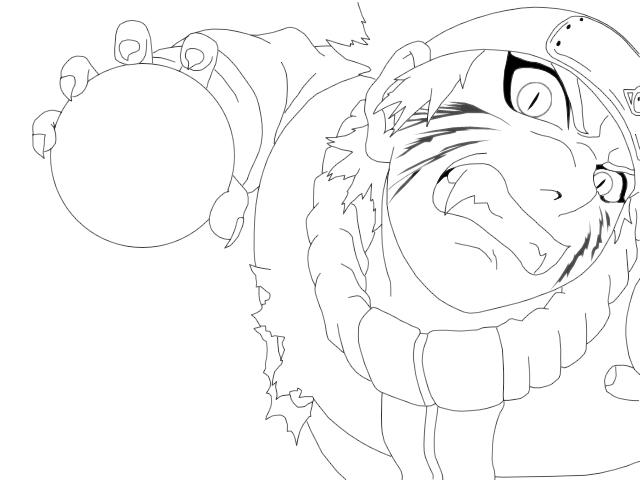 640x480 Sasuke And Naruto Outlines By Kujaex