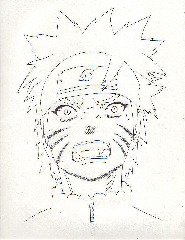 637x825 Shipp. Kyuubi Naruto 2 Outline By Torakage Blacklight