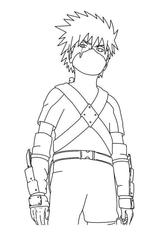 518x739 Coloring Pages Naruto Coloring Pages Free Printable For Kids