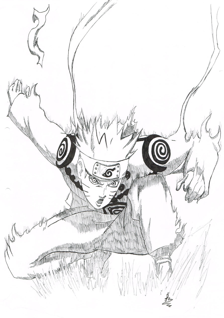 900x1280 Naruto Nine Tail Mode By B Operationz