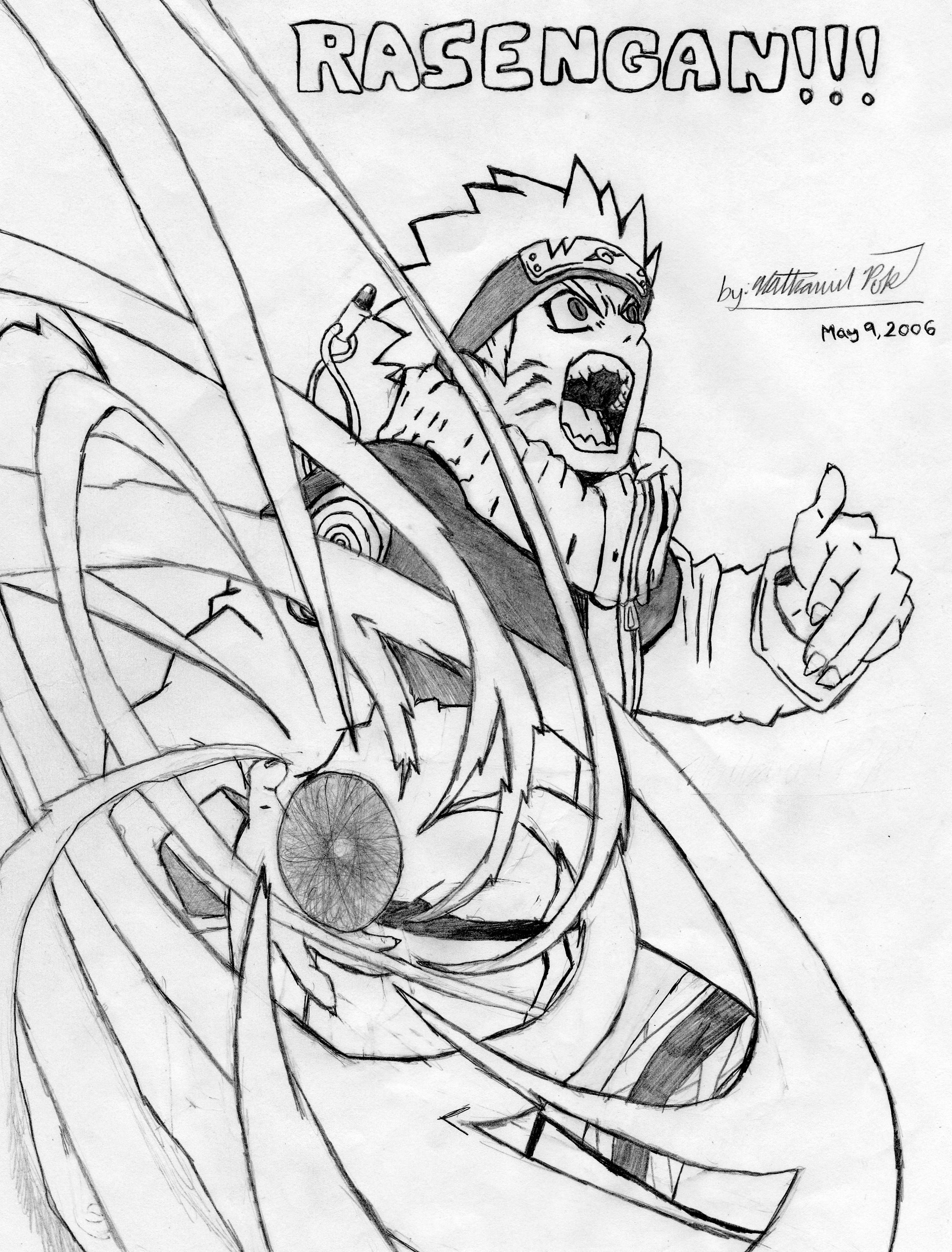 Naruto Rasengan Drawing at GetDrawings