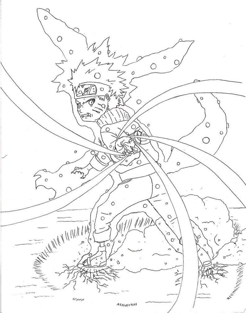 793x1008 Naruto Fox Rasengan By Abbott38