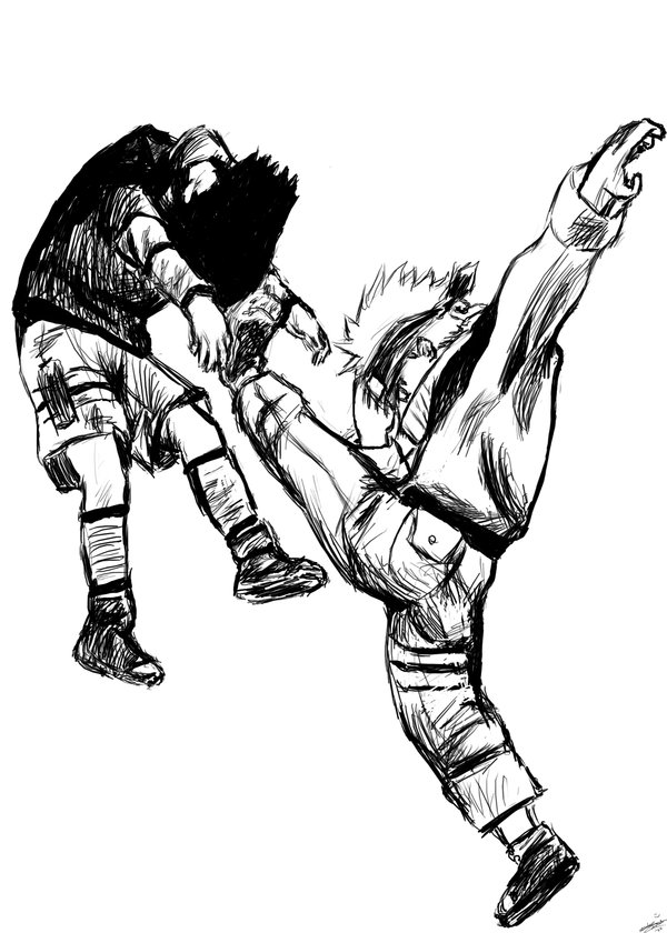 600x840 Naruto Vs Sasuke. By Anneleen