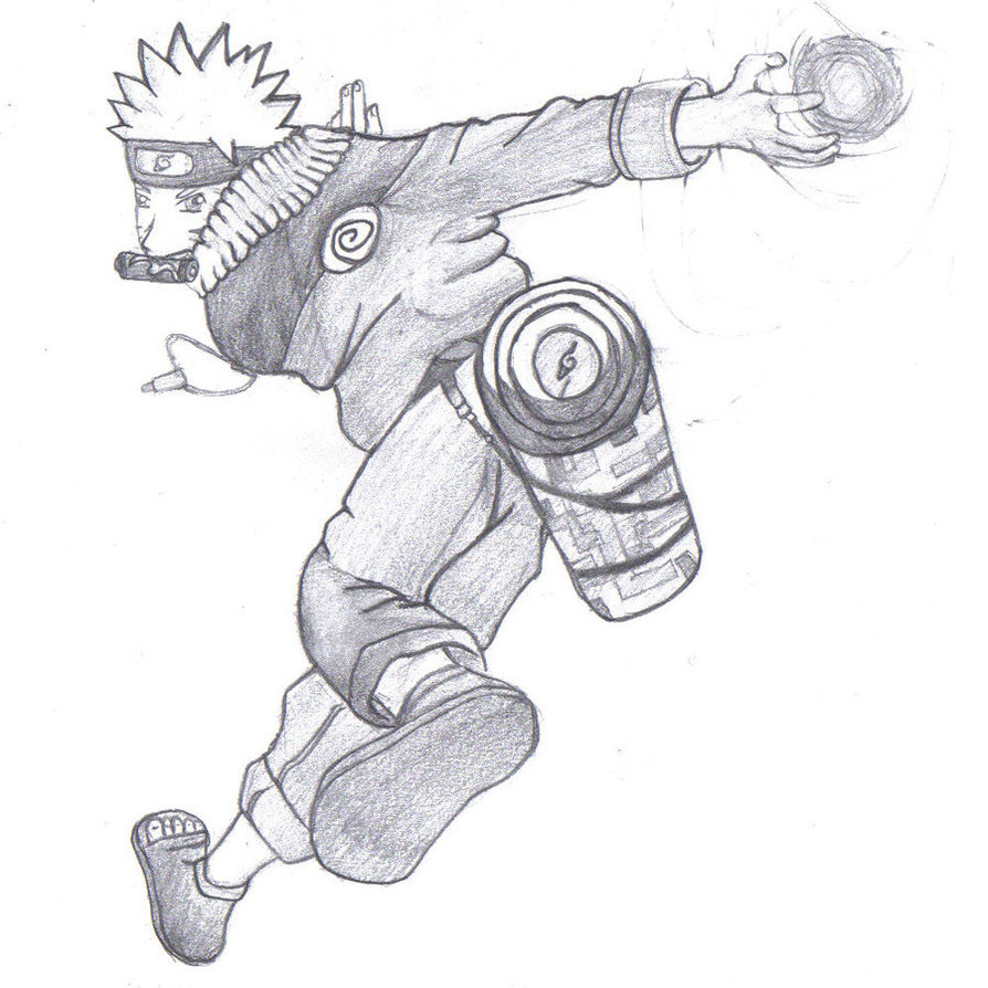894x894 Sketch Naruto By Sanorabluebird