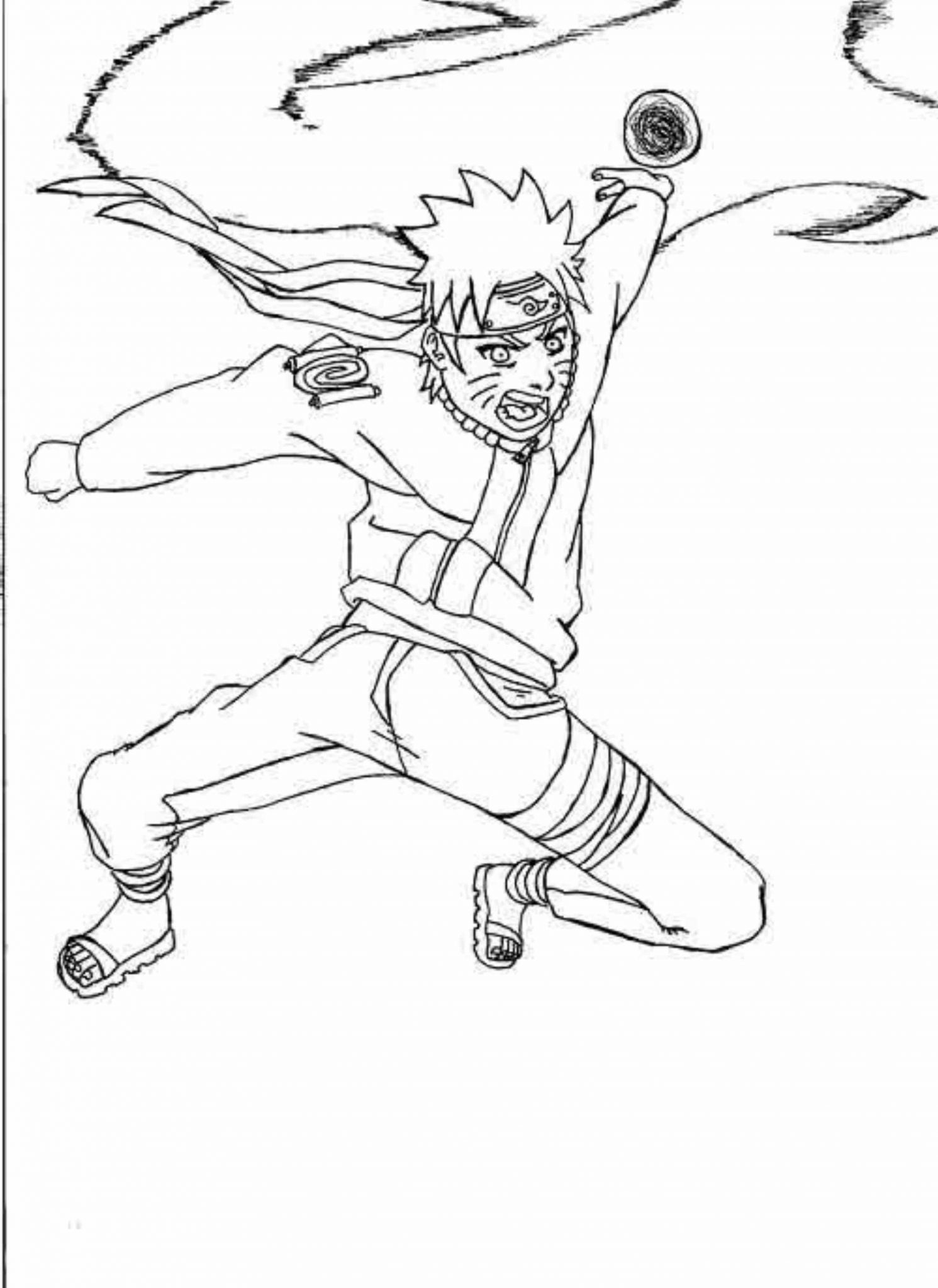 1491x2048 Naruto Rasengan Coloring Pages