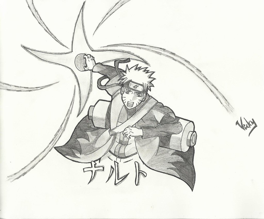 1024x848 Naruto(Sage Mode) Using Rasenshuriken! By Minesteinmcg