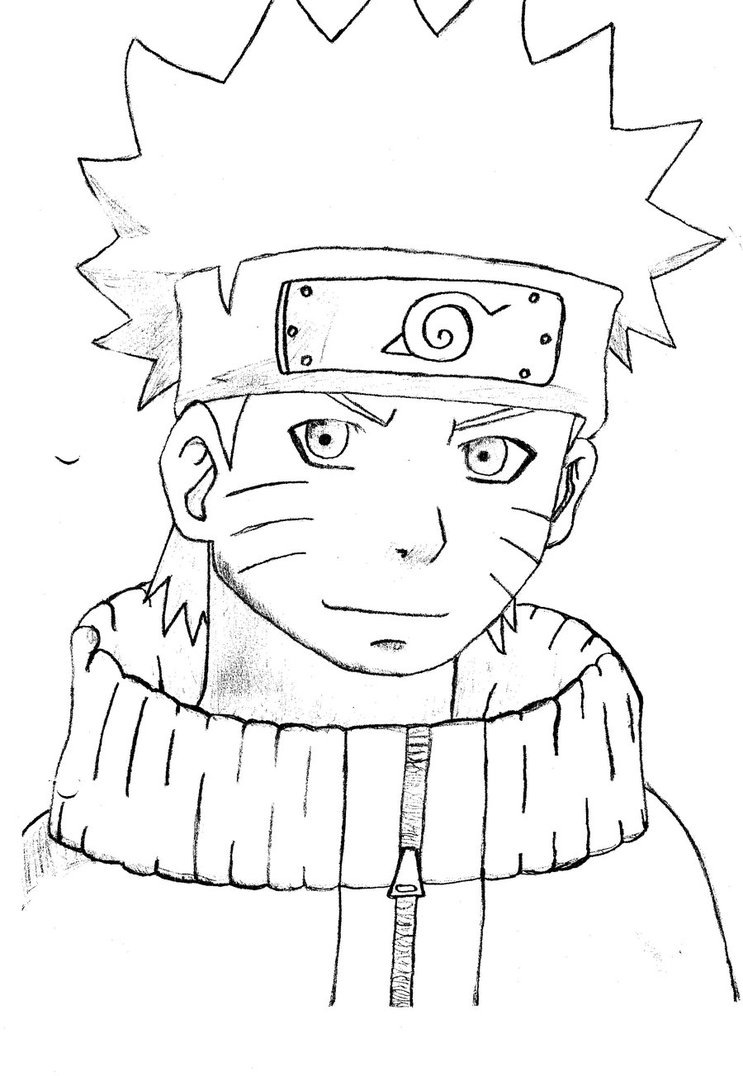 743x1076 Naruto Drawing By Tridentic